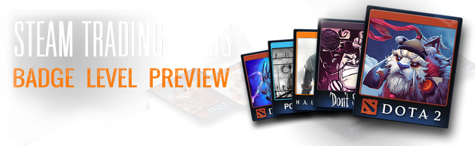 Steam Trading Cards - Badge level preview