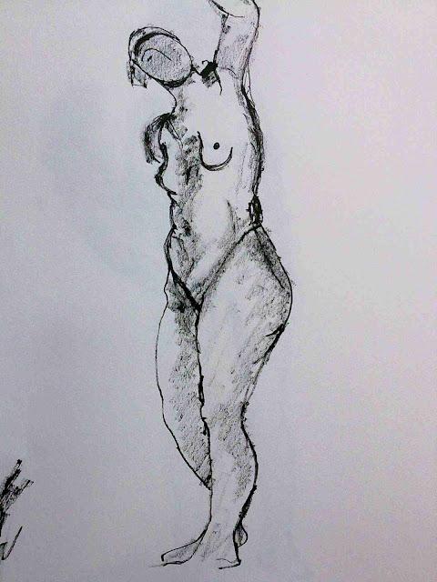 rodin desnudo tinta