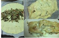 Tarta Berenjena, queso y pavo picado...