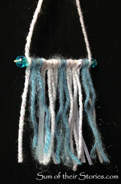 Mini Frozen yarn wall hanging Christmas Tree Ornaments
