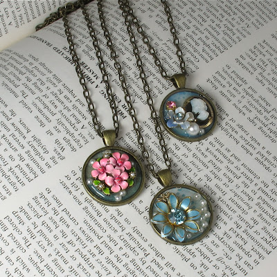 upcycled pendants