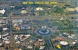 Foto do alto da Feira Mundial de Nova Iorque em 1964 / 1965