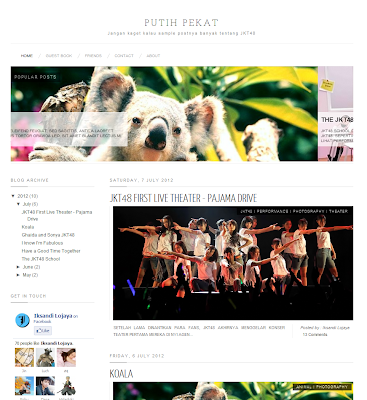 White clean Blogger Template