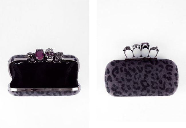 bien bien skull and jeweled cheetah clutch from tobi, cheeta clutch, ring holder cheeta clutch, ring holder alexander mcqueen inspired clutch, cheetah clutch, skull ring clutch