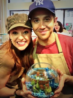 Laura Osnes, Santino Fontana, and Herman