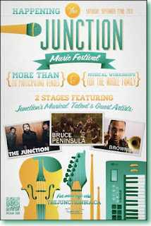 Toronto Junction Music Festival Saturday, September 22, 2012, poster by Junction BIA