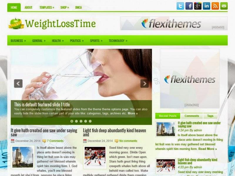 WeightLossTime - Free Wordpress Theme