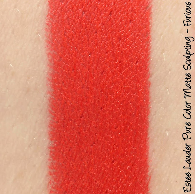 Estee Lauder Pure Color Envy Matte Lipstick - Furious Swatches & Review
