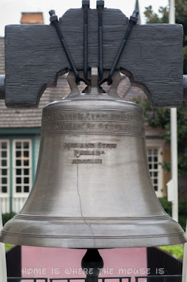Replica of the Liberty Bell on display in Liberty Square, Magic Kingdom