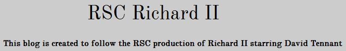 RSC Richard II
