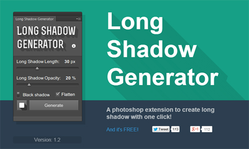 Free download Long Shadow Generator gratis full tanpa key
