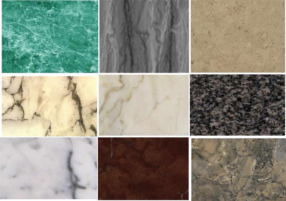 Santiago cata o ospina materia prima el marmol for Clases de marmol para cocinas