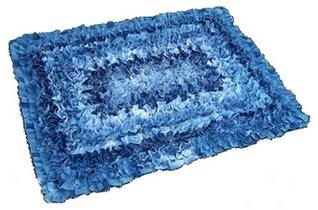 OS MELHORES ARTESANATOS: Tapete reciclado de jeans