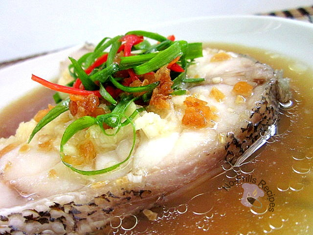 steam fish with essence of chicken