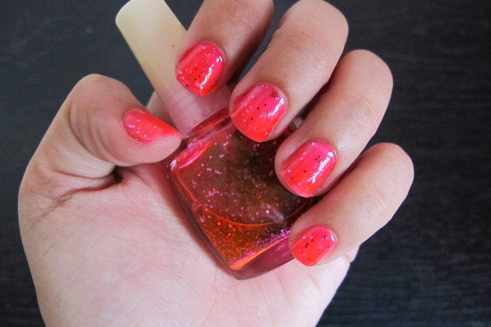 One thousand looks diy glitter nail polish for Diy shoes with nail polish