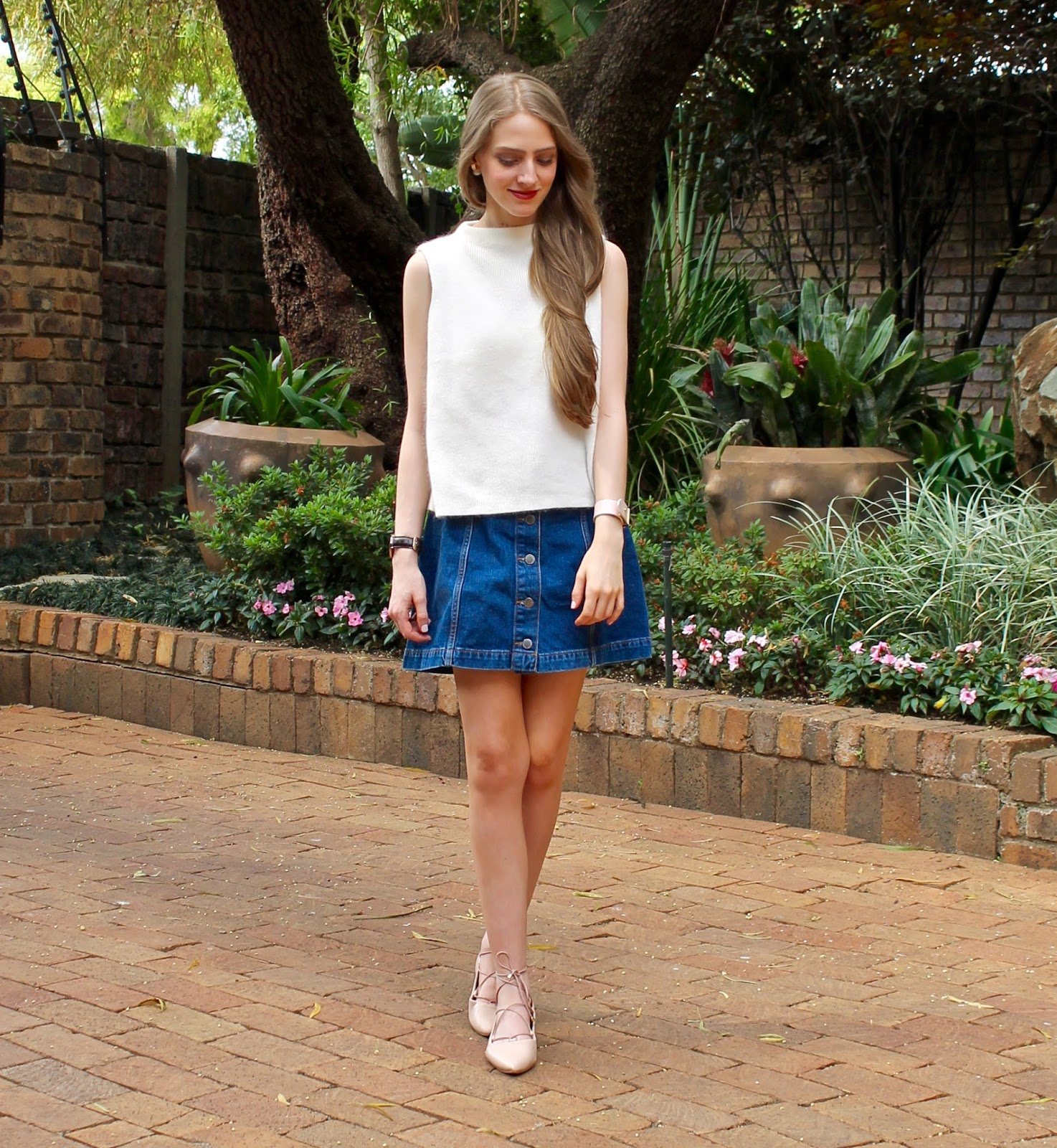 20.11.15} Classic: Button Down Denim Skirt