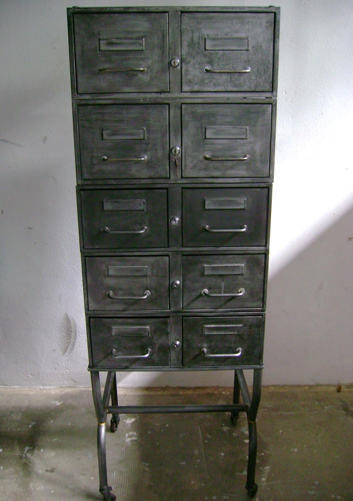 El taller de chlo cajoneras de estilo industrial - Cajoneras estilo vintage ...