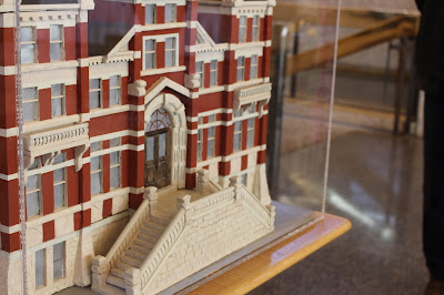 "Photo of the model of the ""gingerbread"" City Hall (1886-1962), found on the second floor of the current City Hall. Photo courtesy of Megan Redmond."