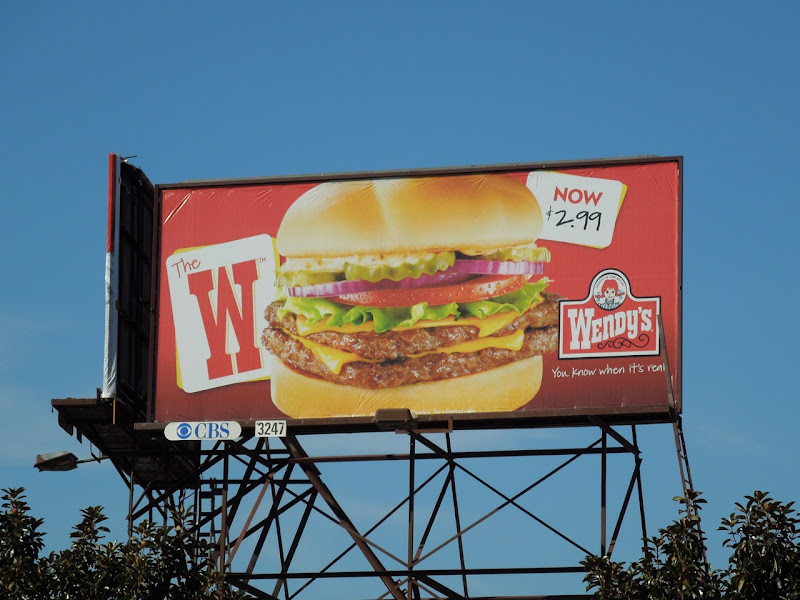 Wendy's W burger billboard