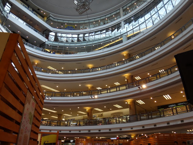 The interior view of One Utama shopping centre in Bandar Utama, Malaysia. One Utama shopping mall is recognized as one of the top 3 world's largest shopping malls.