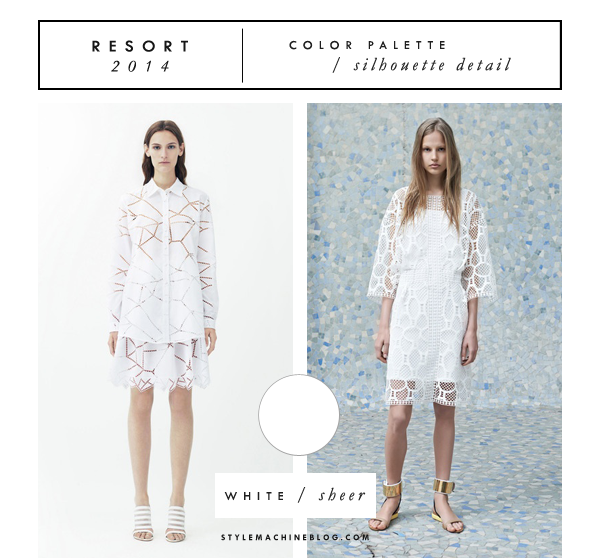 Color & Silhouette Trends from the Resort 2014 runways