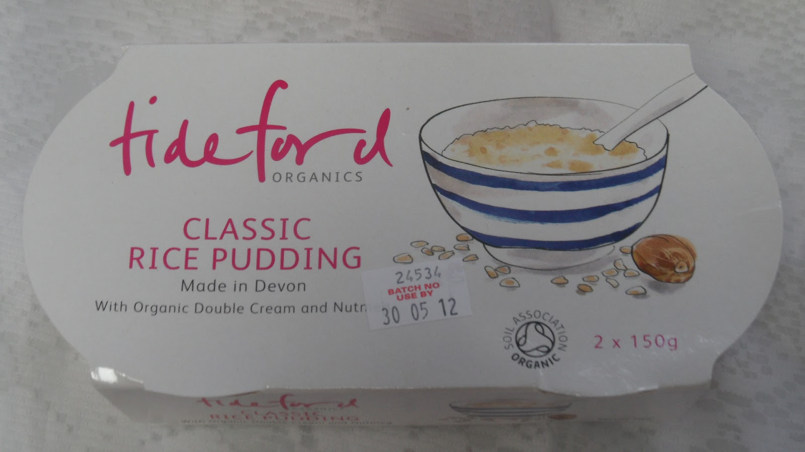 ... rice pudding (Tideford Organics Classic rice pudding review