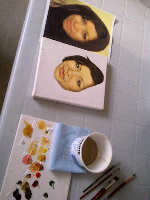 art progress pictures, progress photos, art coming to life, beauty art, portrait painting process