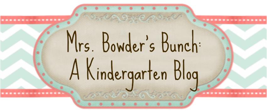 Mrs. Bowder's Bunch:  A Kindergarten Blog