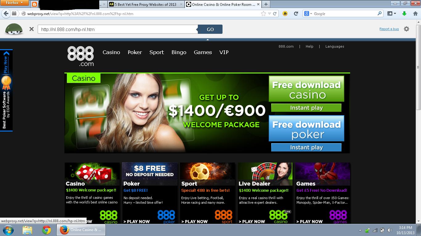 888.com adalah situs judi yang selalu diblokir pihak Internet Positif.