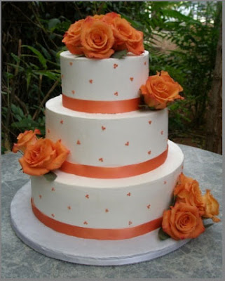 white cakes with flower
