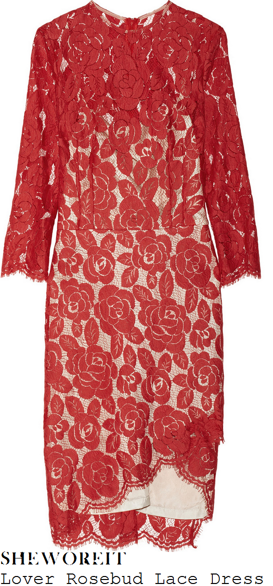 cheryl-cole-red-rose-lace-dress