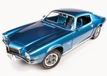Chevy Diecast Autoworld No AMM982/Blue 1971 Chevrolet Camaro SS 350