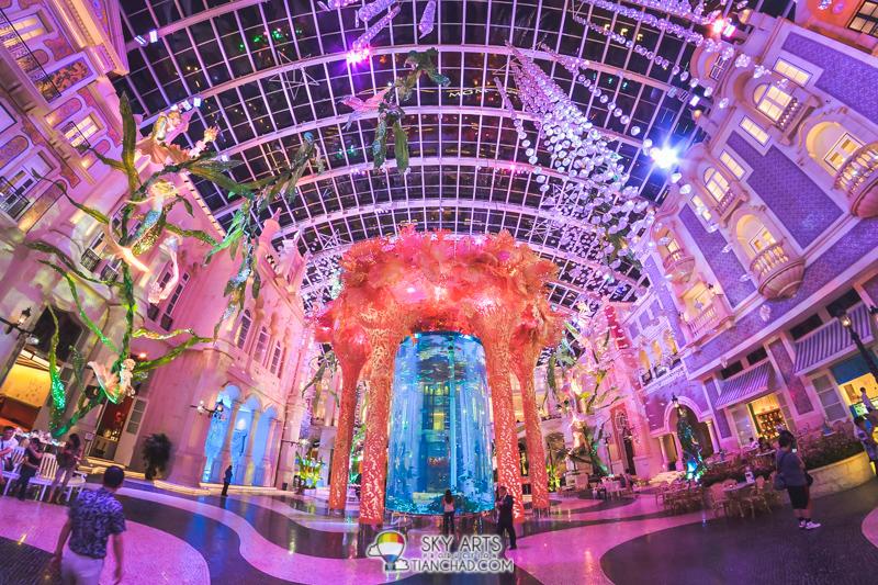 MGM Water Aurora - the biggest indoor marine aquarium I ever seen in hotel