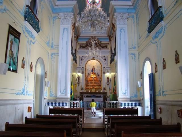 City tour Rio de Janeiro interior da Igreja da Penha