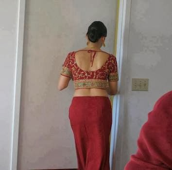 Indian Bbw Aunty Changing Dress Saree In Her Sons