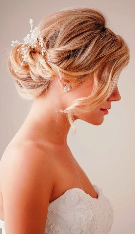 wedding hairstyles ideas loose chignon bun style