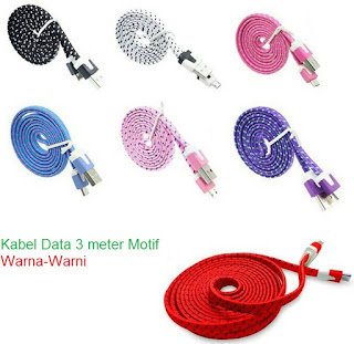Kabel Data USB-Micro Usb 3 Meter Warna