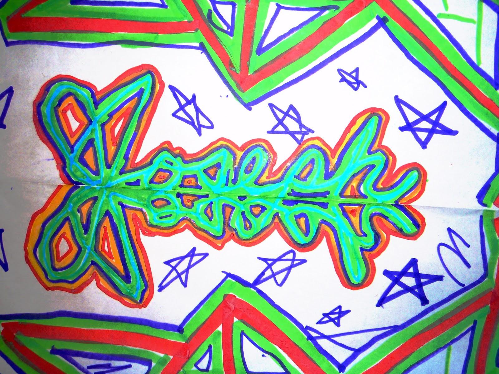 Fayston Elementary Art: Symmetrical Name Designs