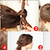 Easy Knotted Updo Hairstyle Tutorial Step By Step