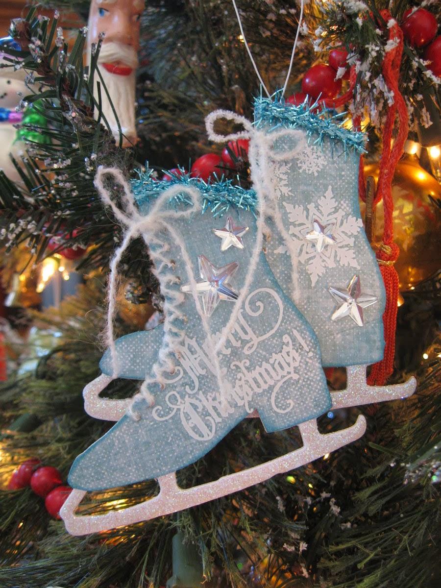 Annette's Creative Journey: Ice Skates Ornament