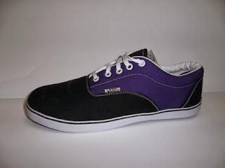 Vans Era hitam ungu,vans murah,vans casual.