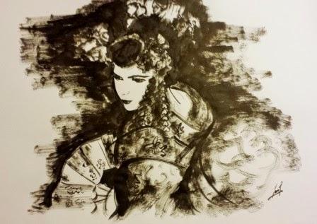 Geisha 1. Tinta China 2014. 35x49cm