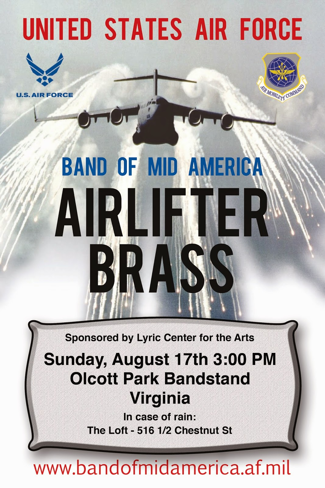 United States Air Force Presents: AIRLIFTER BRASS PERFORMANCE in Virginia - LYRIC CENTER FOR THE ARTS