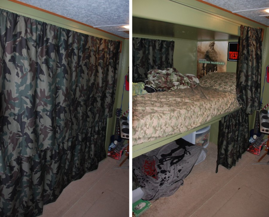 curtains instead of closet doors ~ decorate the house with
