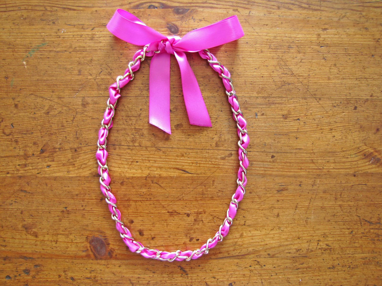 ribbon pictures how in diy vintage make a with on tutorial necklace button side free satin projects to