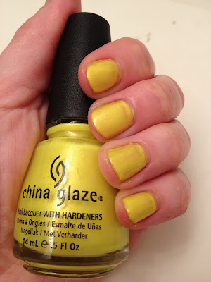 China Glaze, China Glaze Summer Neons 2012 Collection, China Glaze nail polish, China Glaze Sun-Kissed, nails, nail, polish, nail polish, lacquer, nail lacquer