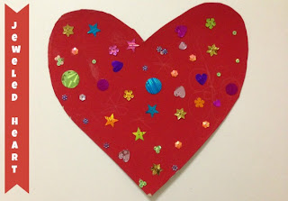 Valentine Kids Craft - Jeweled Heart