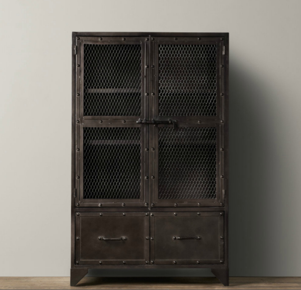 Simplicity in the south faux aged steel ikea cabinet inspired by restoration hardware - Restoration hardware cabinets ...