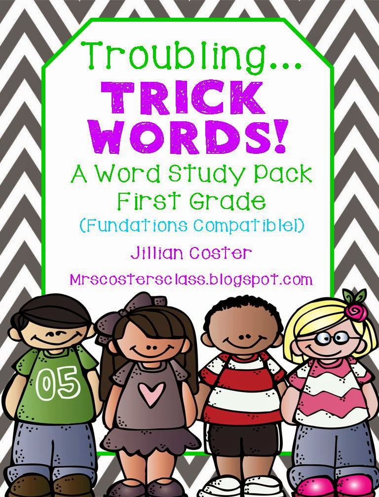 http://www.teacherspayteachers.com/Product/Fundations-Compatible-Troubling-TRICK-WORDS-A-First-Grade-Word-Study-Pack-1074955