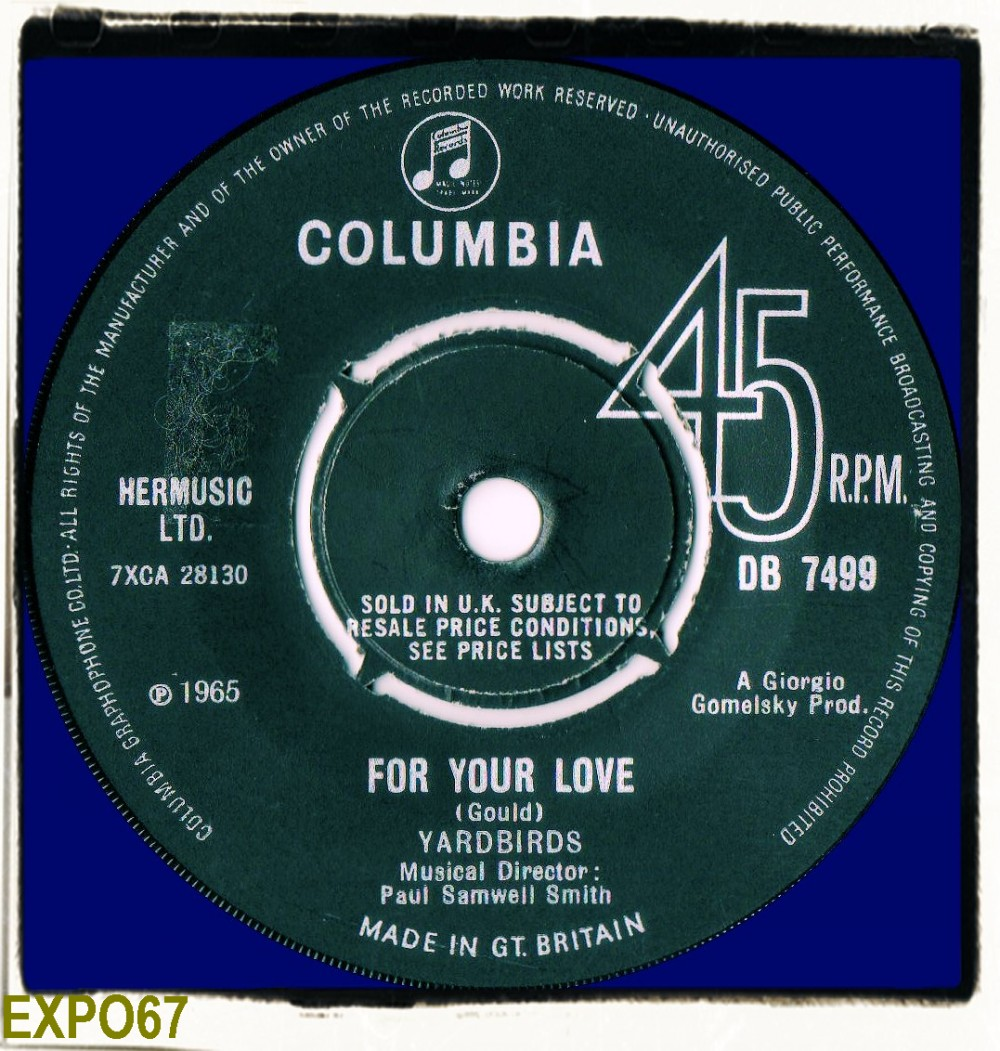 The Yardbirds For Your Love Got To Hurry